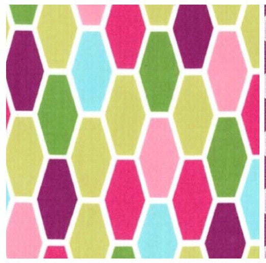 pink and green hexagon