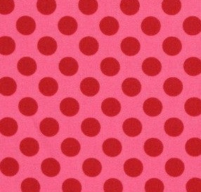 pink and red polka dot