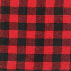red and black flannel plaid