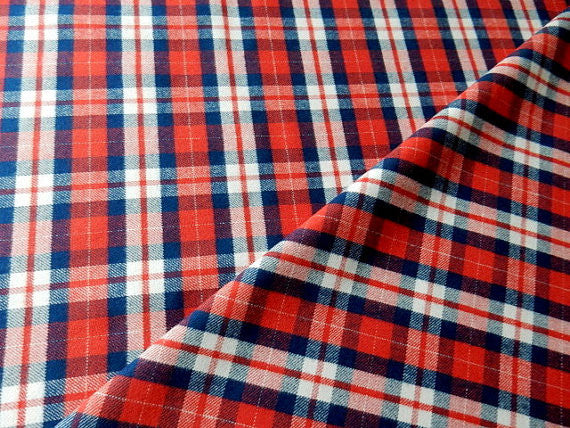 red and blue flannel plaid