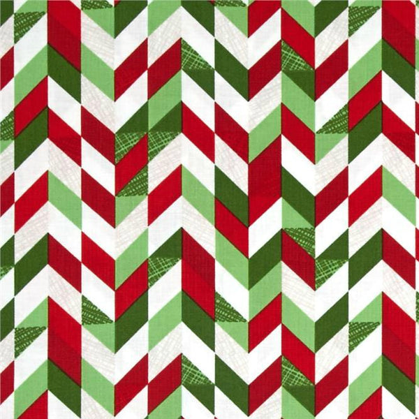 red and green herringbone