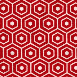 red and white hexagon