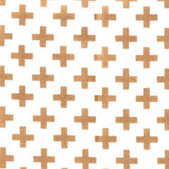 white and gold metallic swiss cross
