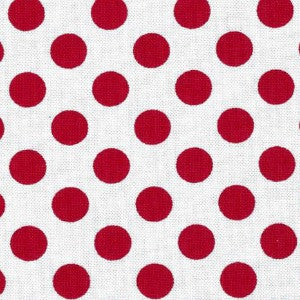 white and red polka dot