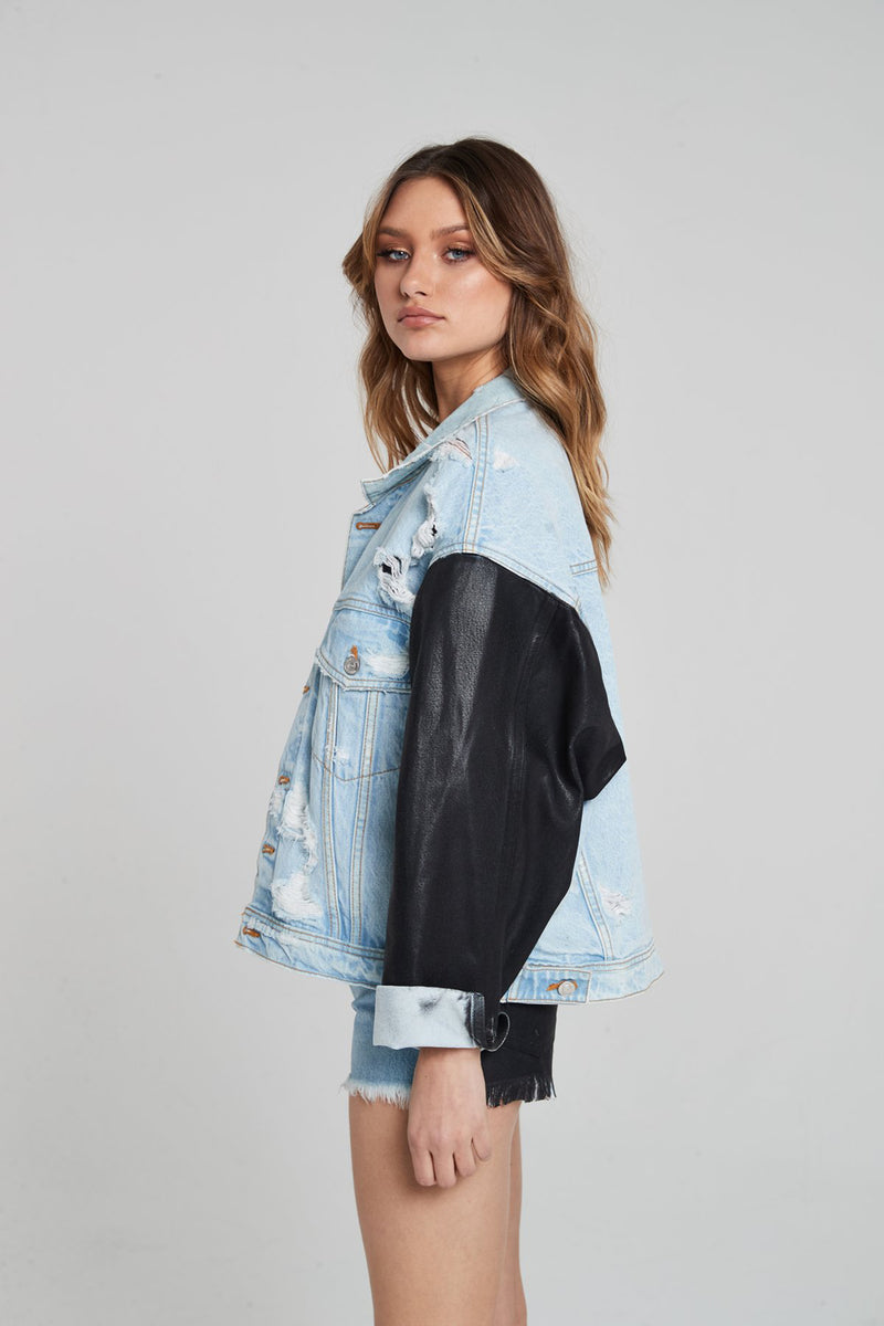 McQueen Denim Jacket / Papillon