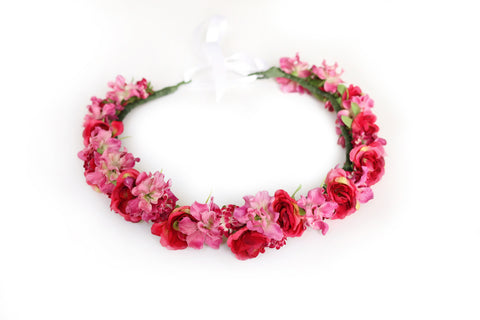 Rosey Love Flower Crown