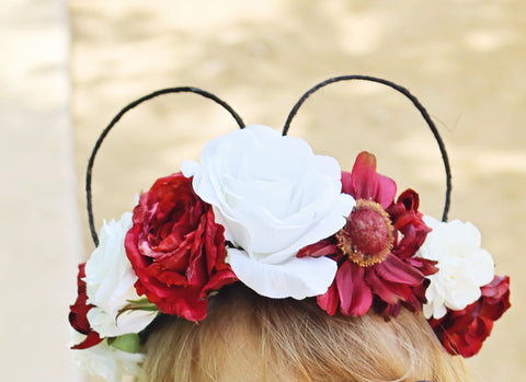 Ruby Flower Mouse Crown