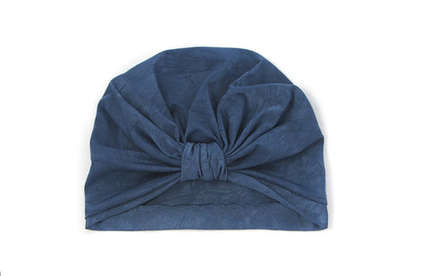 Sapphire Blue Baby Toddler Adult Turban Beanie