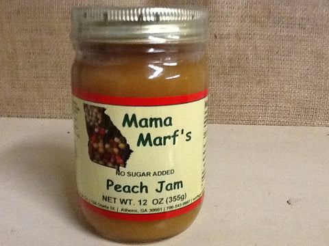 Mama Marf's No Sugar Added  Peach Jam