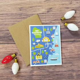 Port Map Print Note Card Set