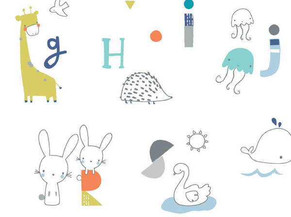 Animal Alphabet Swaddle