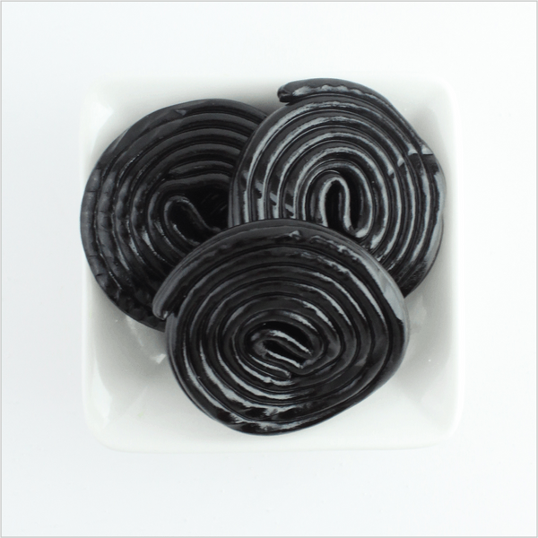 Black Licorice Pinwheels - CoCa LeNa Candy Shop Port Washington