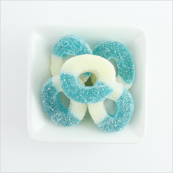 Blue Raspberry Rings - CoCa LeNa Candy Shop Port Washington