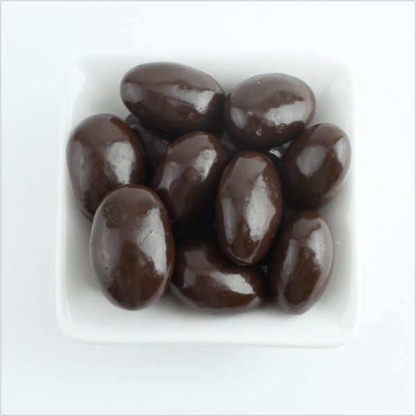 Dark Chocolate Chipotle Almonds - CoCa LeNa Candy Shop Port Washington