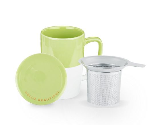 Delia Green Tea Mug & Infuser by Pinky Up