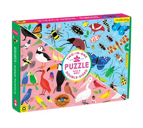 Double Sided Bugs & Birds 100 Piece Puzzle