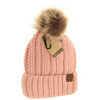 Kids Fuzzy Lined Fur Pom Hat