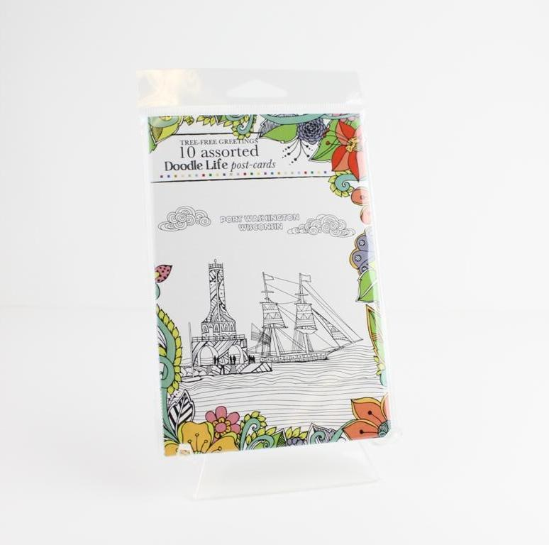 Port Washington Coloring Post Cards - Pear and Simple Port Washington Boutique
