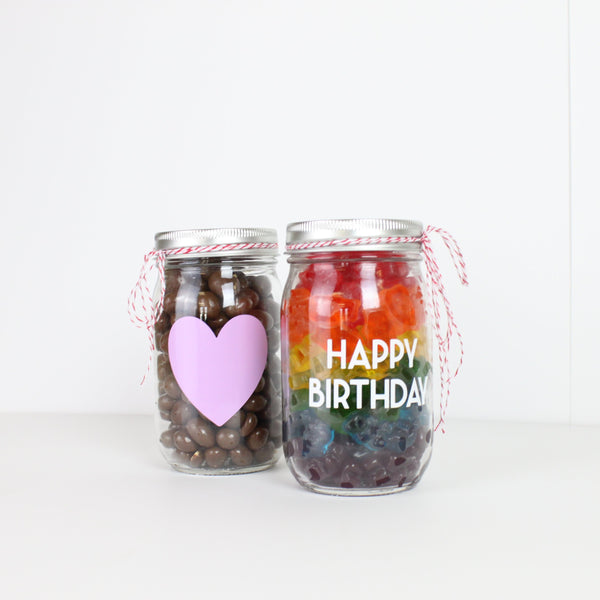 Candy-filled Mason Jar