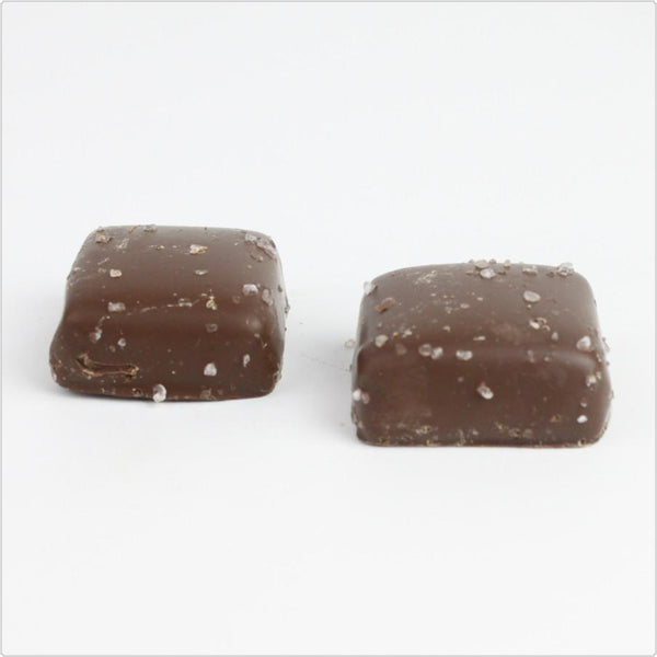 Milk Chocolate Sea Salt Caramels - CoCa LeNa Candy Shop Port Washington