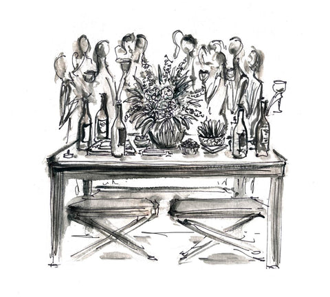 Drawing of wine event