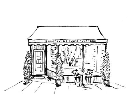 Drawing of the Biondivino Wine Boutique