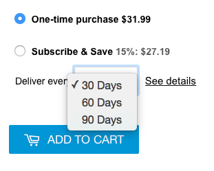 Example Subscription Order