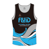 Men's Running Singlet, Black or White