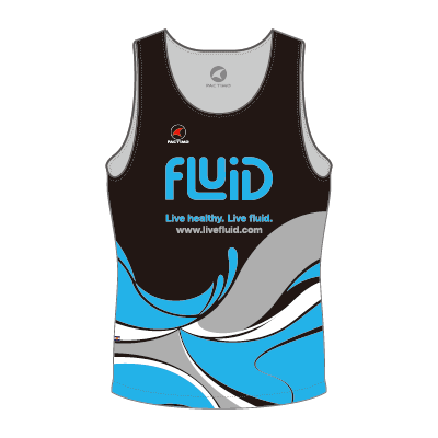 Men's Running Singlet Blue