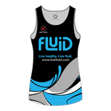 Women's Running Singlet Blue