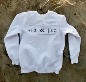 Sid & Jac Crew Neck Sweater White