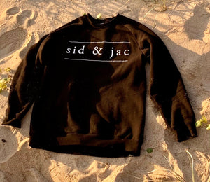 SID & JAC CREW NECK SWEATER Black