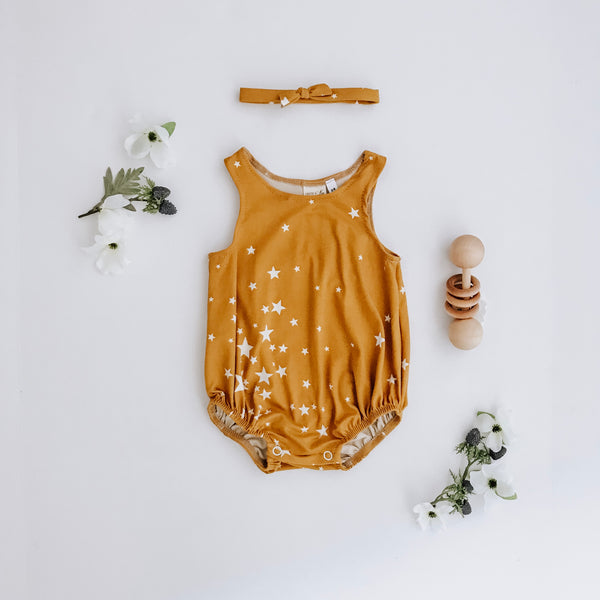 Stardust Bubble Romper + headband