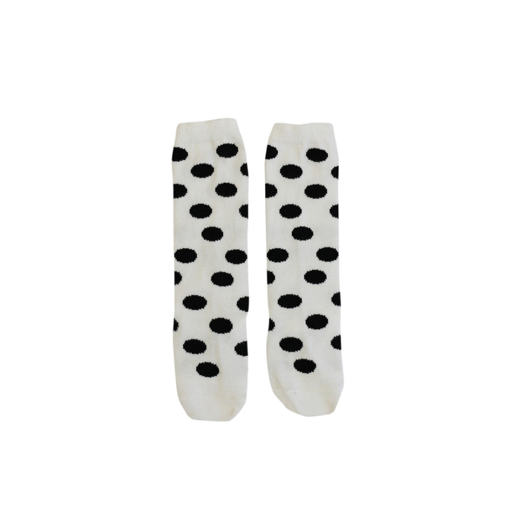 Black Polka Dot Knee High Socks