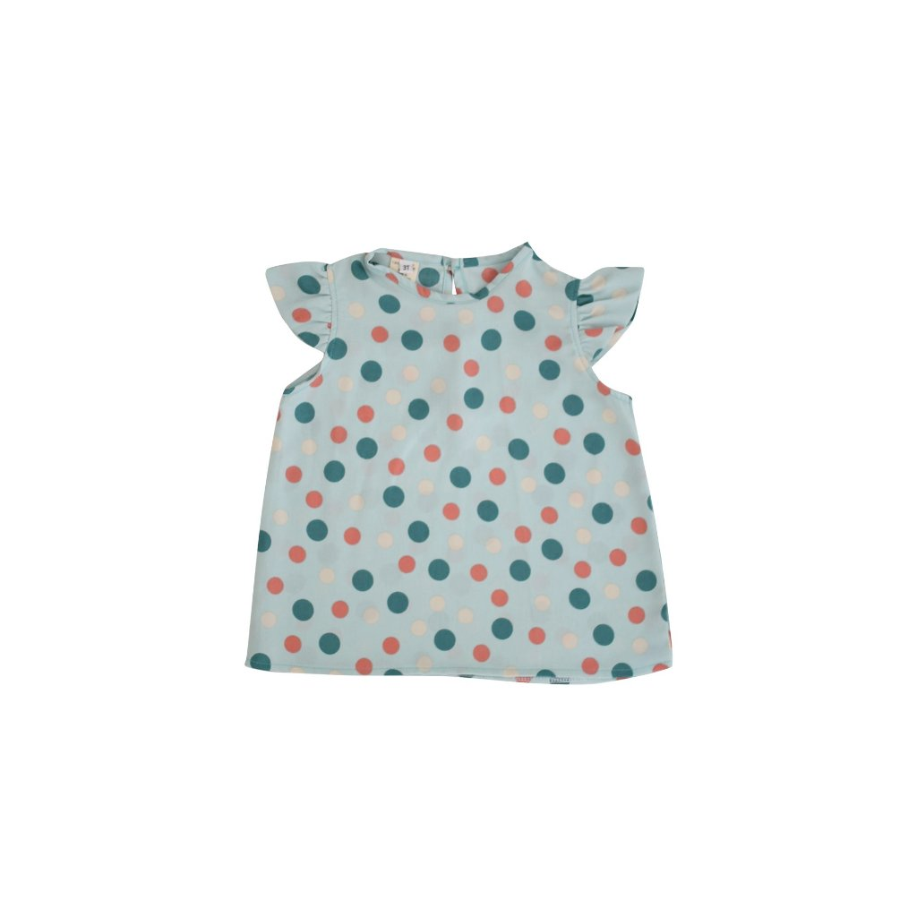 Green Dottie Top