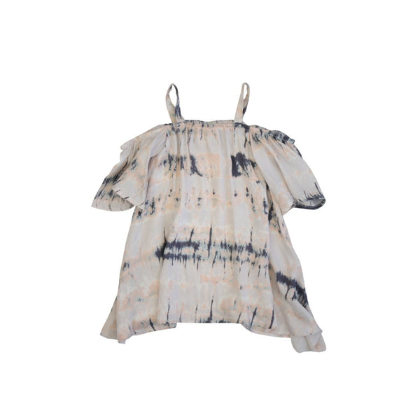 Pastel Tie-dye Off The Shoulder Dress