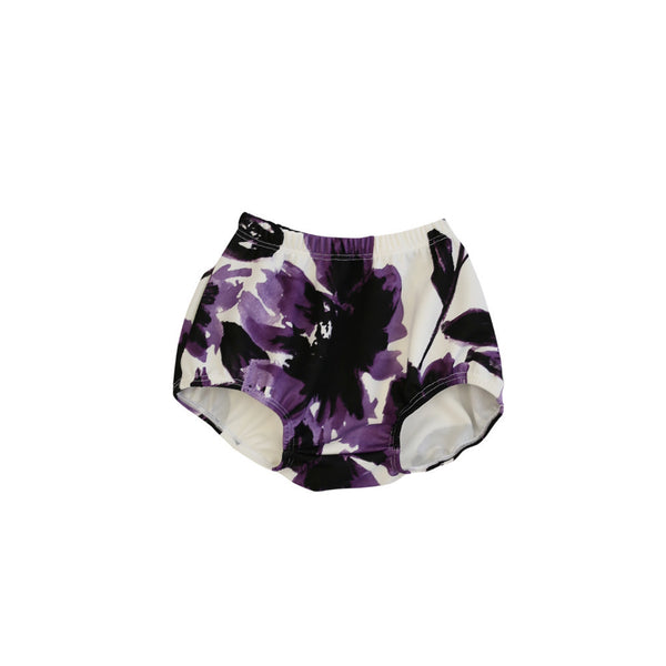 Purple Floral Bloomers