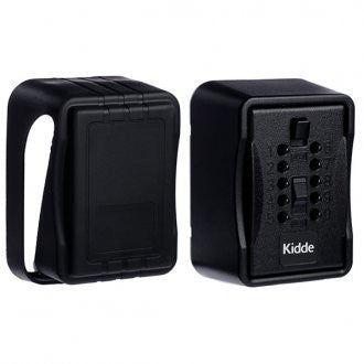 Small black wall mounted Key Safe, KIDDE