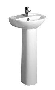 Tavistock Micra Ceramic Short Projection Basin & Pedestal