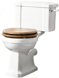 Tavistock Vitoria Close Coupled WC Pan, Cistern & Soft Close Natural Oak Seat