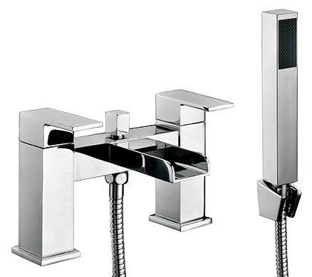 TRENT Bath Shower Mixer & Handset (0.5 Bar) Chrome Finish