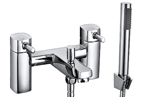 WYE Bath Shower Mixer & Handset (0.5 Bar) Chrome Finish