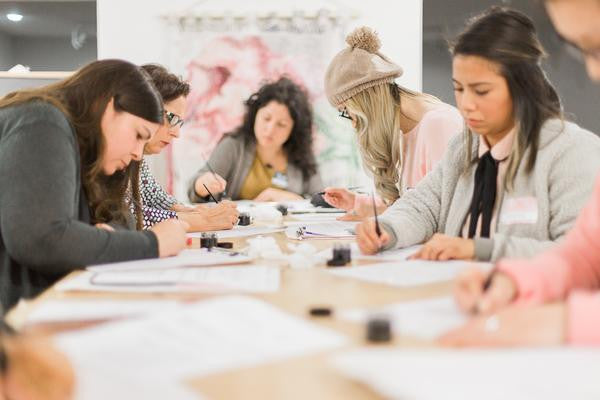 Intro to Modern Calligraphy Workshop at The Makery Craft Co