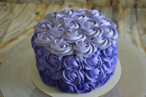 Purple ombre rosette cake by sugar street boutique. sugar street boutique. purple cake. ombre cake. purple ombre cake. rosette cake. rosette cake. purple ombre rosette cake. toronto cake. toronto baker. lemon rosette cake. lemon cake. lemon cream cheese. lemon rosette cake. toronto cake. sugar street boutique. ombre. rosettes. rosette. toronto cake.