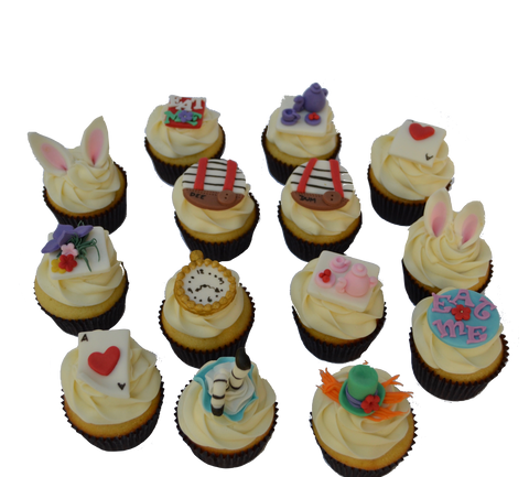 Mad Hatter cupcakes. Alice in wonderland cupcakes. Toronto Cupcakes. Sugar Street Boutique.