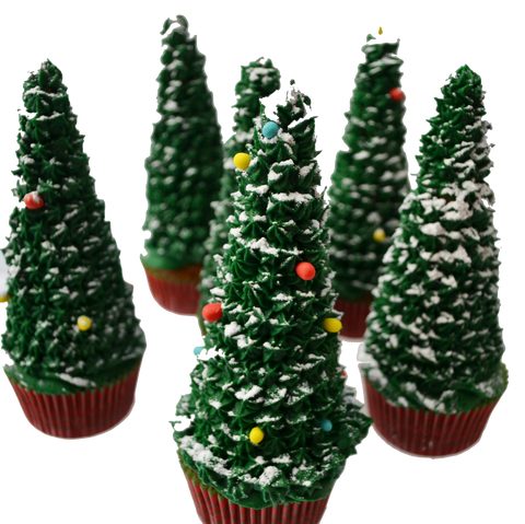tall christmas tree cupcakes by sugar street boutique toronto cupcakes