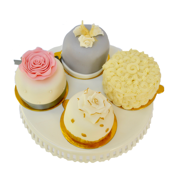 Mini cakes for a wedding, bridal shower, engagement party or birthday by sugar street boutique Toronto