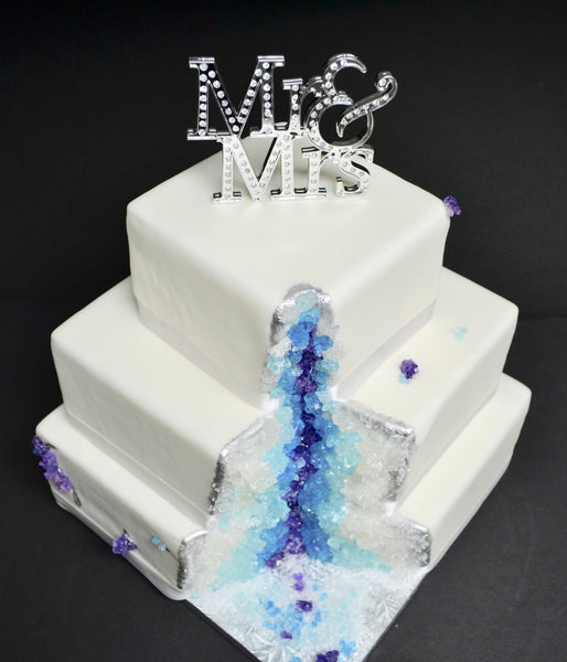 Crystal Mineral Mine wedding Cake by Sugar Street Boutique Toronto