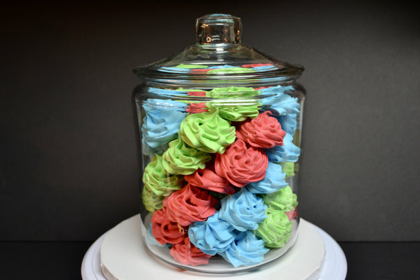 Colourful meringues suspiros by Sugar Street Boutique