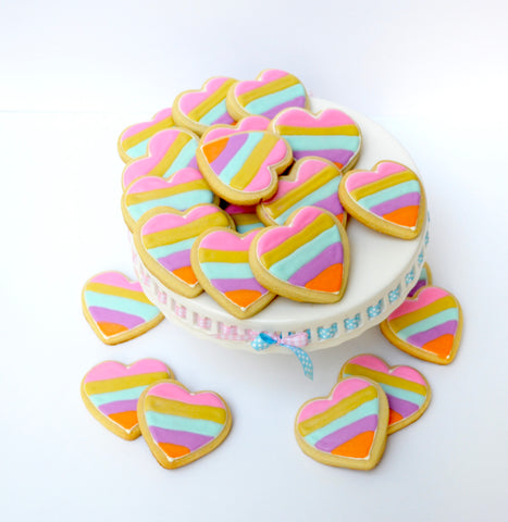 Sugar Heart Rainbow Cookies Toronto by Sugar Street Boutique